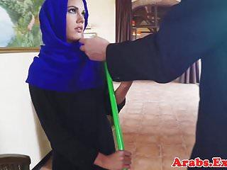 Veiled mulsim beauty fucked and facialized