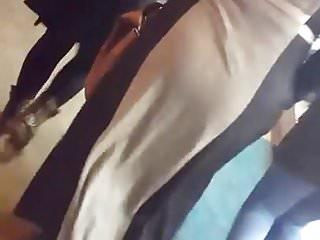 walking hijab candid ass
