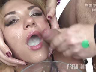 Premium Bukkake - Katy swallows 75 huge mouthful cumshots