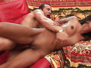 FFM Anal casting young amateur indian slut with small tits