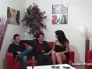 Anal casting couch busty brunette hard double penetrated
