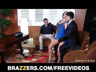 Slutty MILF is fucked hard infront of her husband