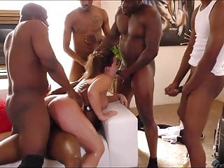 NN is Gangbanged by a bunch of BBC! Super Hot!