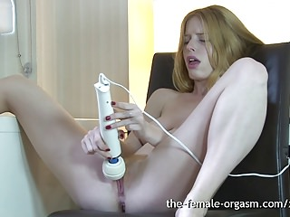 Natural Hairy Redhead Masturbates Solo to Multiple Orgasms