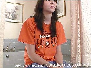 cute brunette community college girl from cedar rapids iowa