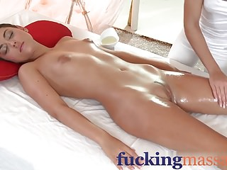 Massage Rooms Horny girls with small tits get fucked