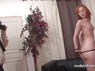 Pretty petite french redhead slut hard double teamed