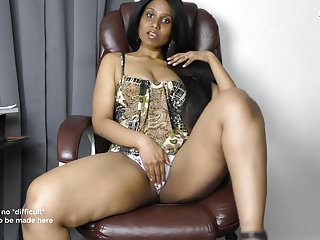 Sexy Indian Boss blackmails role play in Hindi English