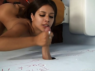 Jynx Maze Sucks Big Dick in Gloryhole