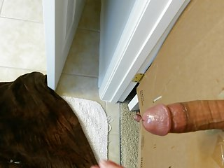Big cock huge cumshot at the gloryhole