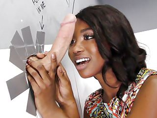 Ebony Skyler Nicole Tries Anal With Huge Cock at Gloryhole