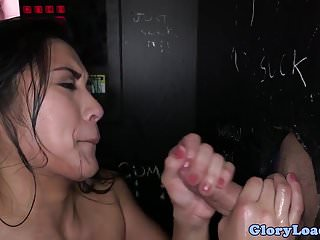 Asian gloryhole amateur fucking after sucking