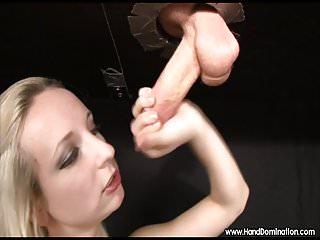 tiny girl suck and jerks gloryhole cock