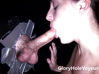 Two Pornstars Suck Gloryhole Cocks