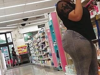 Walgreens Creep Shots MEGA ass ebony booty revisted part 1