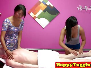 Massage asians tug and grind pussy on client