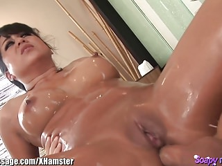 Asian Massage Babe Ass Fucked