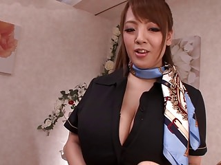 Busty asian babe incredible massage