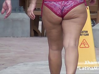 Super THick PAWG Milf In Bikini at Water Park OMG!!