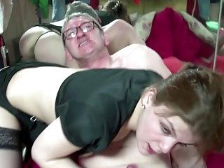 Real dutch whore fucks and sucks old man