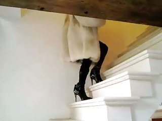 Vanessa High Heels Boots Furs Stockings Big Black Toy