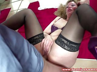 Real dutch blonde hooker gets fingered