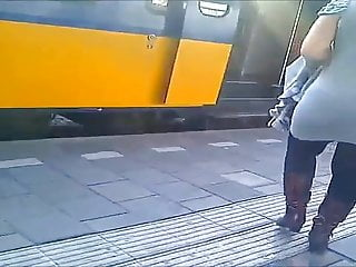 Dutch girl in the trainstation
