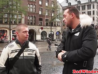 Busty Dutch hooker bigtits jizzed by tourist