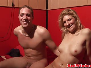 Blonde dutch whore sucks cock before riding