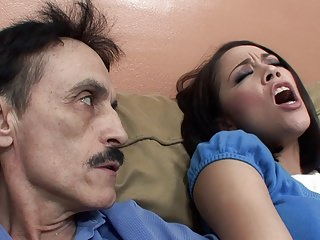 Kristina Rose deepthroats Step-Dad's dick