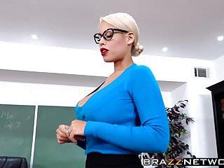 Busty teacher Bridgette B seduces her young student