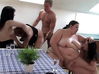 Boy fucks big and small mature mothers