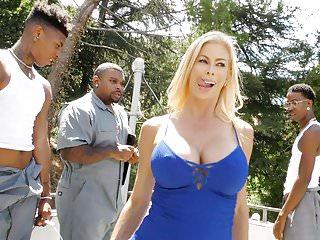 Squirting Slut Alexis Fawx Gangbanged By Black Dicks