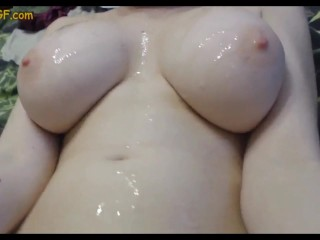 Huge Tits on Skinny Young Girlfriend