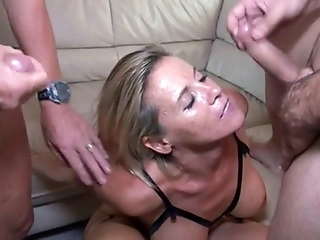 Sexy MILF 46y First Theesome With Husband