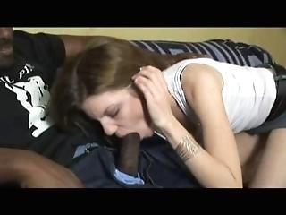 Skinny white girl...big black cock
