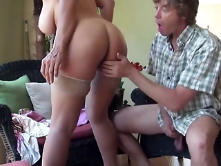 Step mom teaches step son sex tricks
