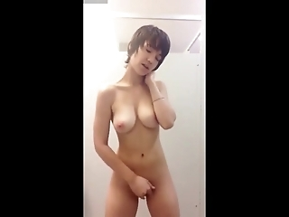 Naughty girl in the toilet