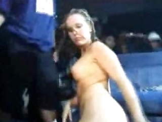 Blonde drunk slut goes out of her way to win