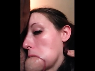 Wife sucks friends fat cock