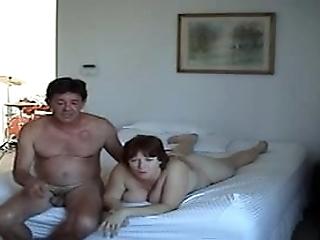 2 swinger couples having fun at home