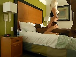 Sexy MILF With Two Blacks Anal