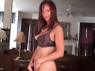 Sexy mature MOM with soaking hairy pussy