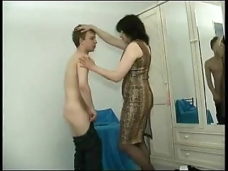 Mature Mom Catches A Young Thief And Teases Him