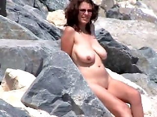 Nude Beach - Big Naturals - Poses for BF - Voyeur Films