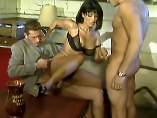 French mom fucked by two guys