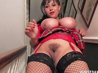 Danica Has Something to Stair at