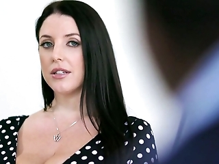 Horn-mad busty Australian MILF Angela White goes interracial to ride fat BBC