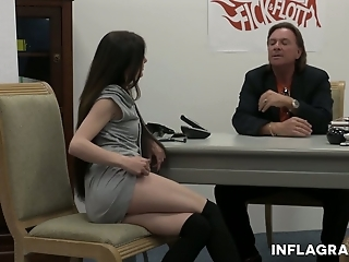 Young chick Lullu Gun gets intimate with one kinky old fart