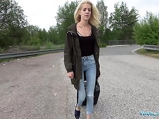 Public Agent Loud outdoor sex for slim pretty lost blonde